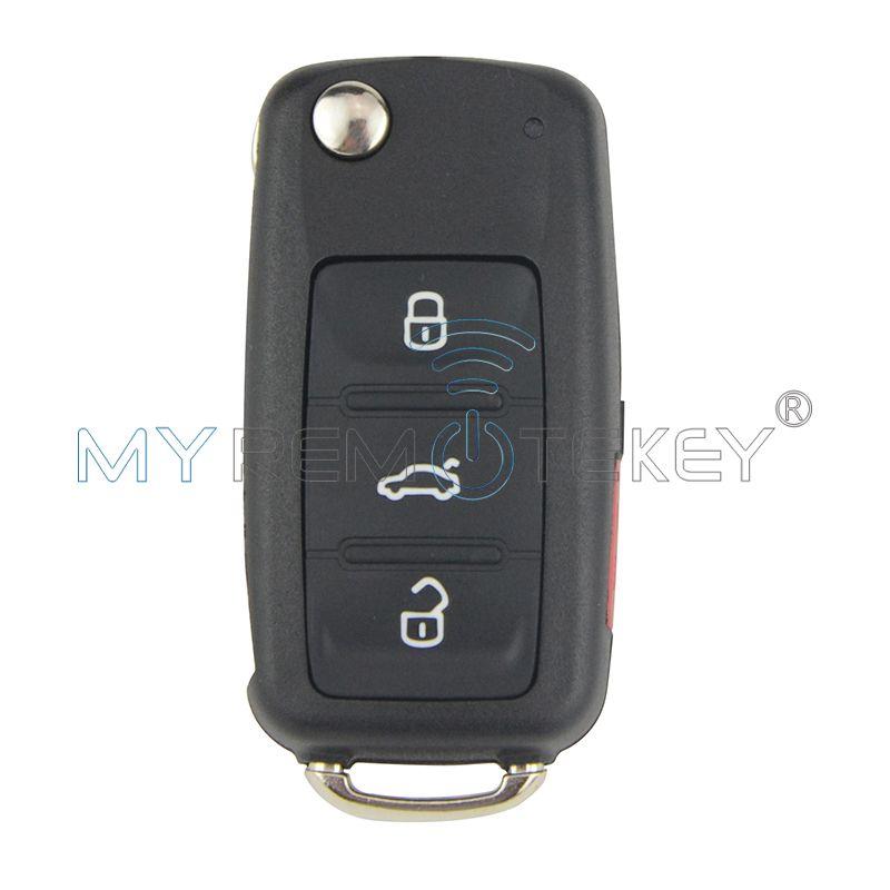 Flip voiture télécommande clé pour VW Bettle CC EOS Golf Jetta Passat Tiguan Touareg 2014 2015 2016 4 bouton 5K0837202AE 315 Mhz remtekey
