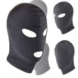 Sexy PU Leather Latex Hood Black Mask 4 tyles Breathable Headpiece Fetish BDSM Adult for party
