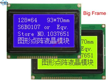 128*64  lcd display module STN blue green screen white backlight  5v  s6b0107 LCM12864C-1 instead WH12864A LM12864LFW  free ship