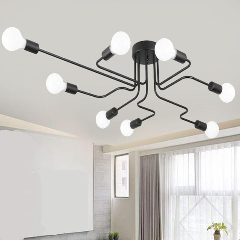 Plafonniers Luminaria Led plafonnier lumière Vintage industriel Loft maison luminaire pour salon lampara De Techo