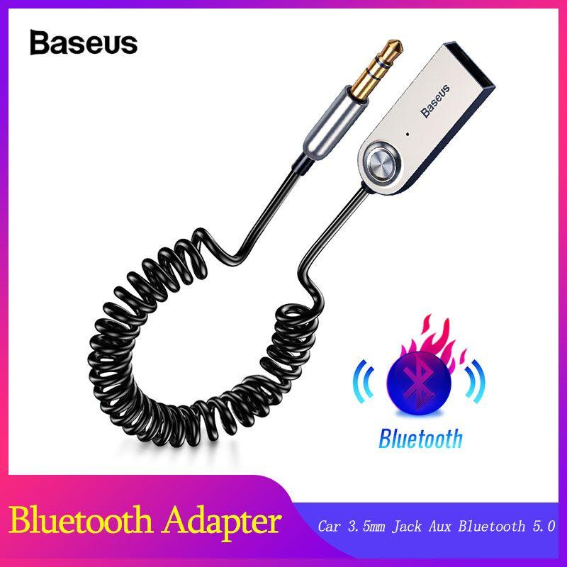 Baseus mains libres USB Aux Bluetooth adaptateur Dongle câble pour voiture 3.5mm Jack Aux Bluetooth 5.0 4.2 4.0 récepteur Audio émetteur