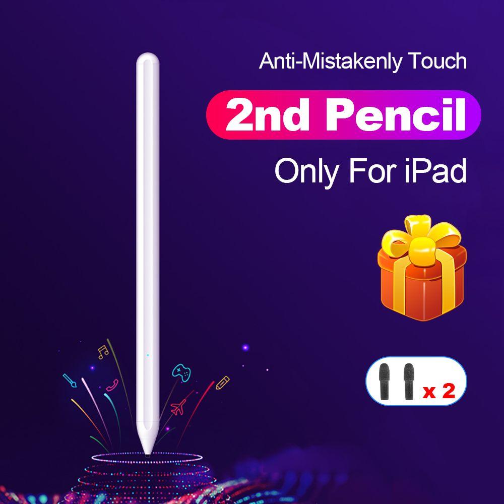 Pour Apple crayon 2 stylet tactile pour iPad Pro 11 12.9 9.7 2018 Air 3 10.2 2019 Mini 5 pour iPad crayon pas de retard dessin stylo