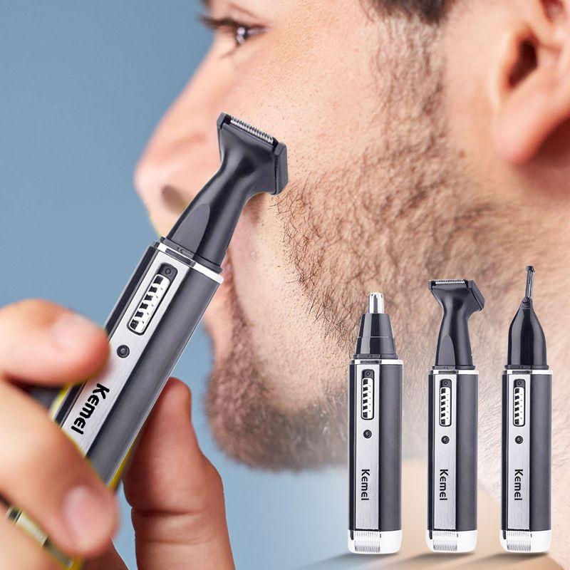4 en 1 Rechargeable hommes électrique nez oreille cheveux tondeuse indolore femmes coupe favoris sourcils barbe cheveux tondeuse coupe rasoir
