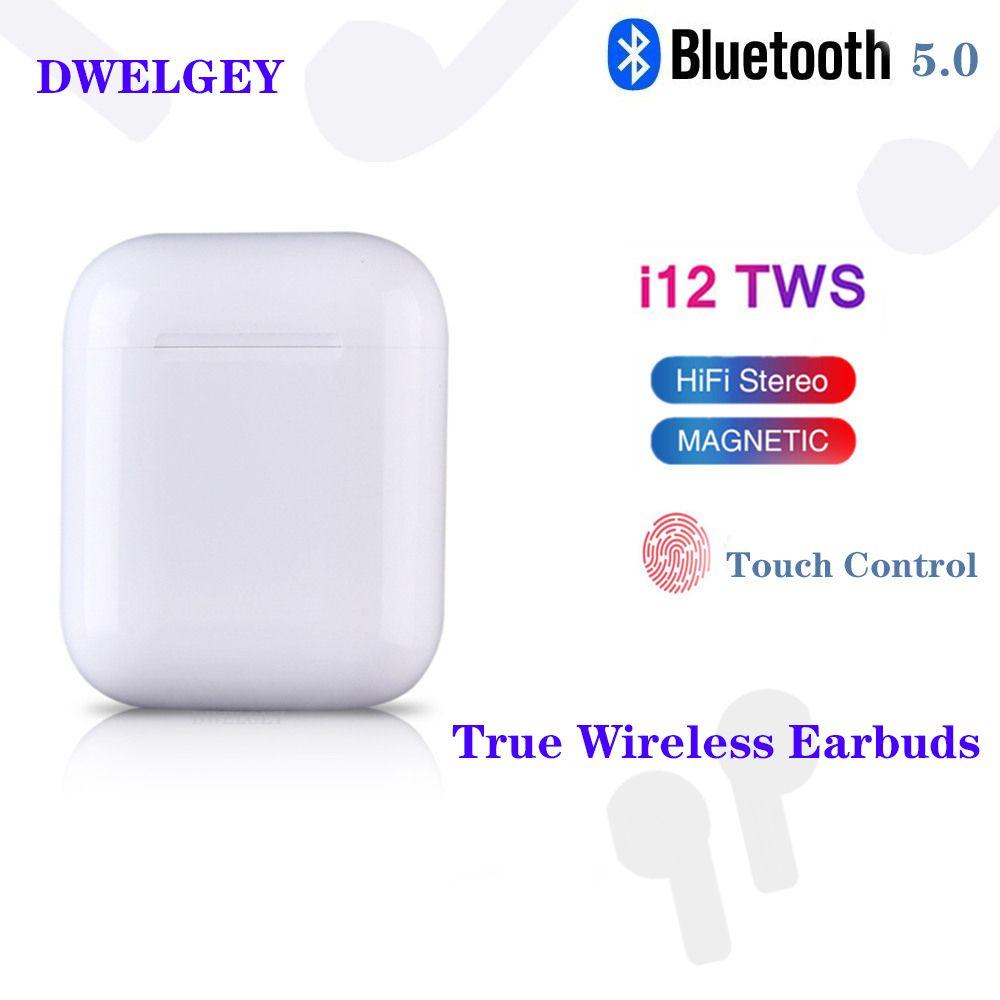 Original i12 TWS Wireless Bluetooth 5.0 Earphone Sports Sweatproof earphone Touch Portable Earbuds for i10 i20 tws i30 i60 i80