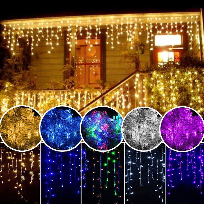 5M LED rideau glaçon chaîne lumière droop 0.4-0.6m noël fée lumière extérieure étanche décoratif LED partie jardin scène