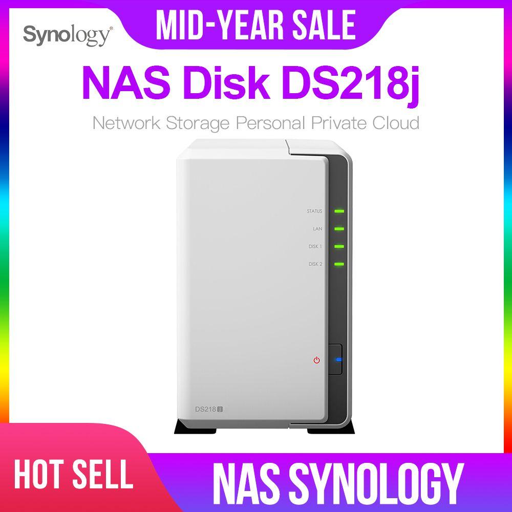 Synology Original NAS Disk Station DS218j 2-bay Diskless nas Server nfs Netzwerk Lagerung Wolke lagerung 2 Jahre Garantie