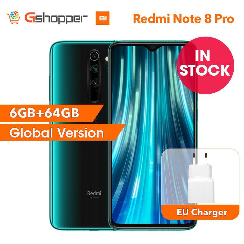 Globale Version Xiaomi Redmi Hinweis 8 Pro 6GB 64GB Smartphone 64MP Quad Kamera 6,53