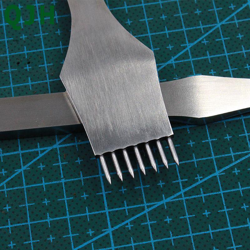Meilleur 2 + 5 + 7 broches en cuir poinçonnage outil de burin rond 3mm/4mm/5mm pointu piquage à la main en cuir poinçon artisanat couture traitements