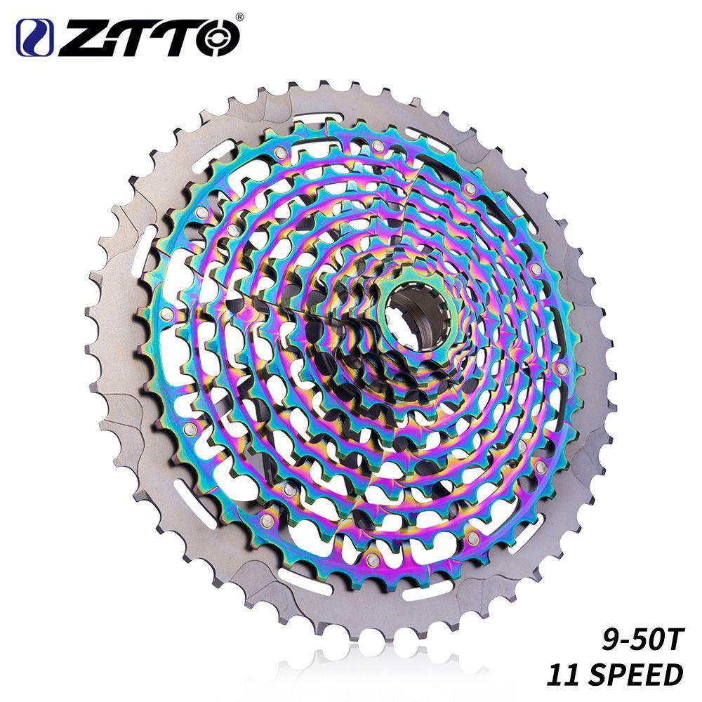 ZTTO Ultimative MTB 11 Geschwindigkeit 9-50T Kassette ULT XD Kassette Regenbogen 372g Stahl Langlebig Ultraleicht 11s Kassette 9-50 k7 9 zu 50