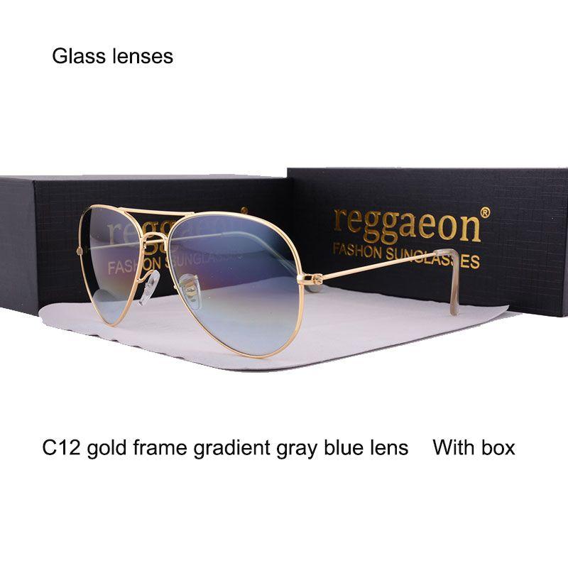 2020 lentilles en verre lunettes De soleil hommes lunettes pour femme lLarge cadre Double faisceau conduite pilote lunettes Oculos De UV400 lunettes De soleil en verre