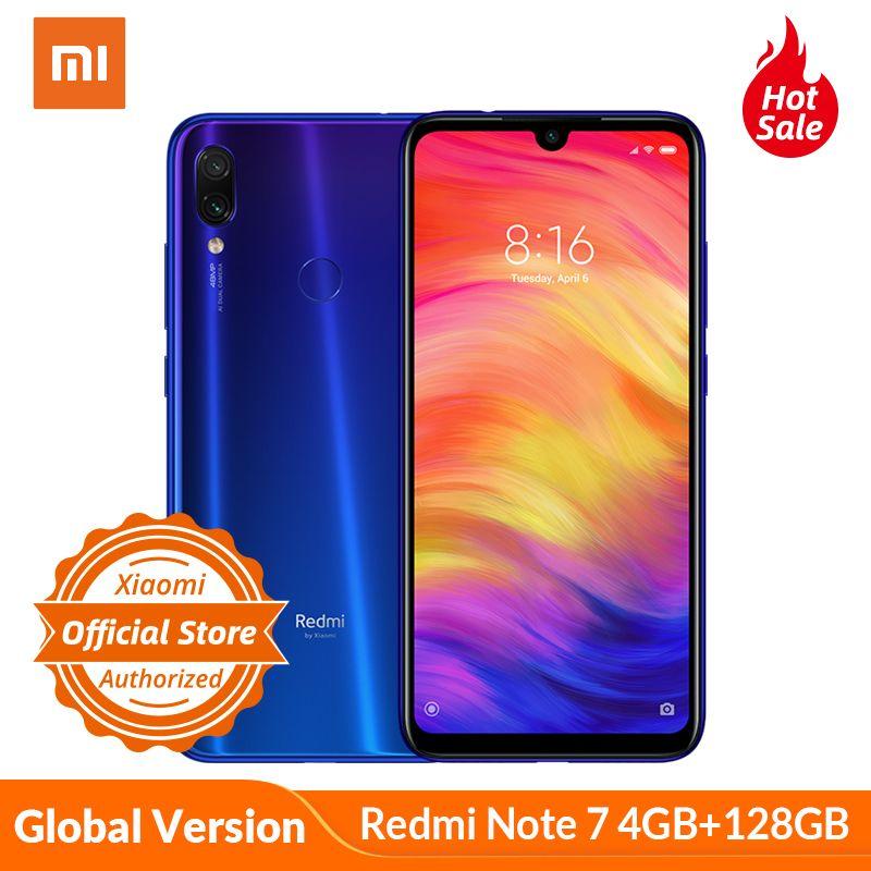 Version mondiale Xiaomi Redmi Note 7 4GB 128GB Note7 Snapdragon 660 48MP double caméra 6.3 ''téléphone Mobile plein écran 4000mAh CE FCC