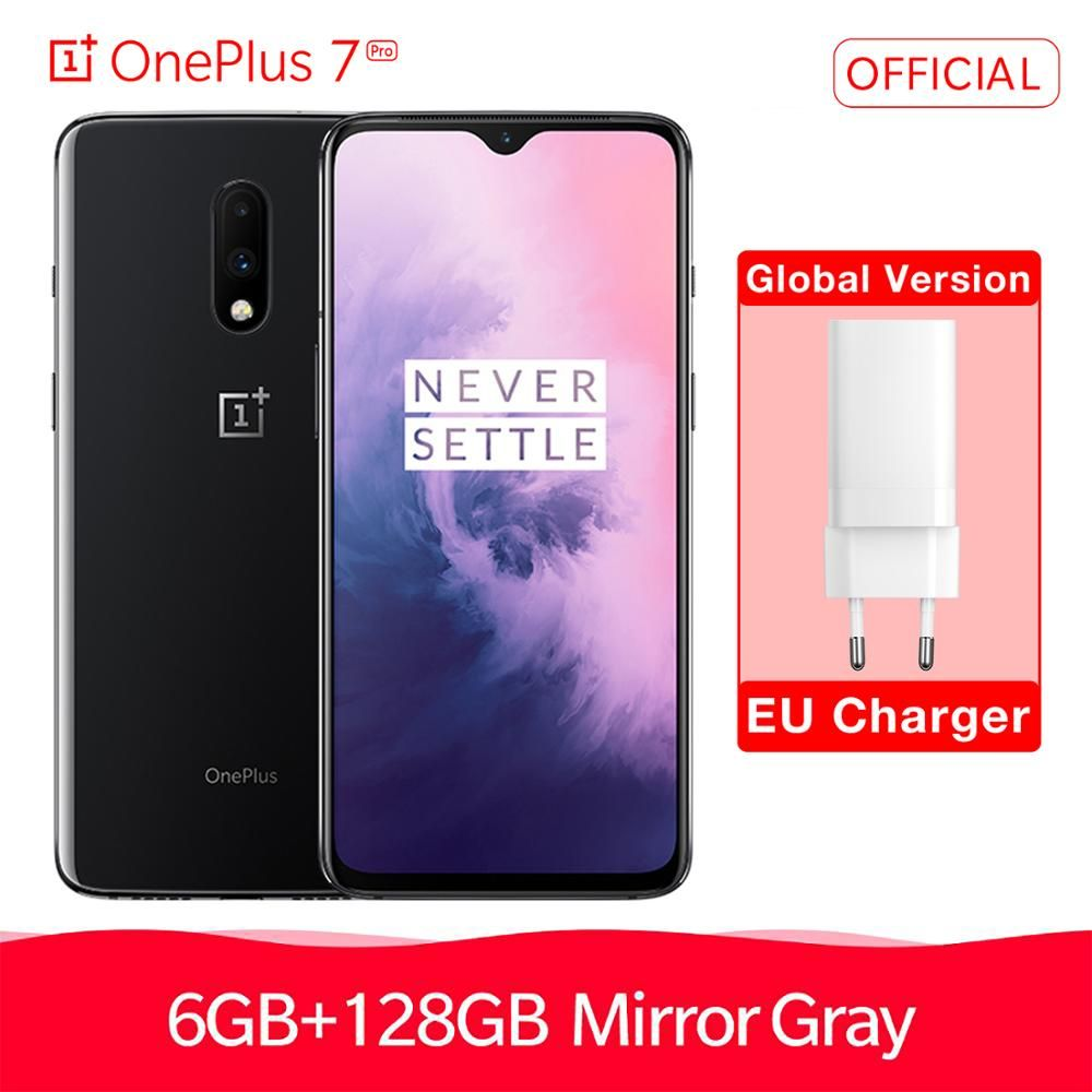 Globale Version OnePlus 7 6/8GB RAM 128/256GB ROM Smartphone Entsperren 6,41 AMOLED Display 3700 mAh Snapdragon 855 Octa Core 48 MP