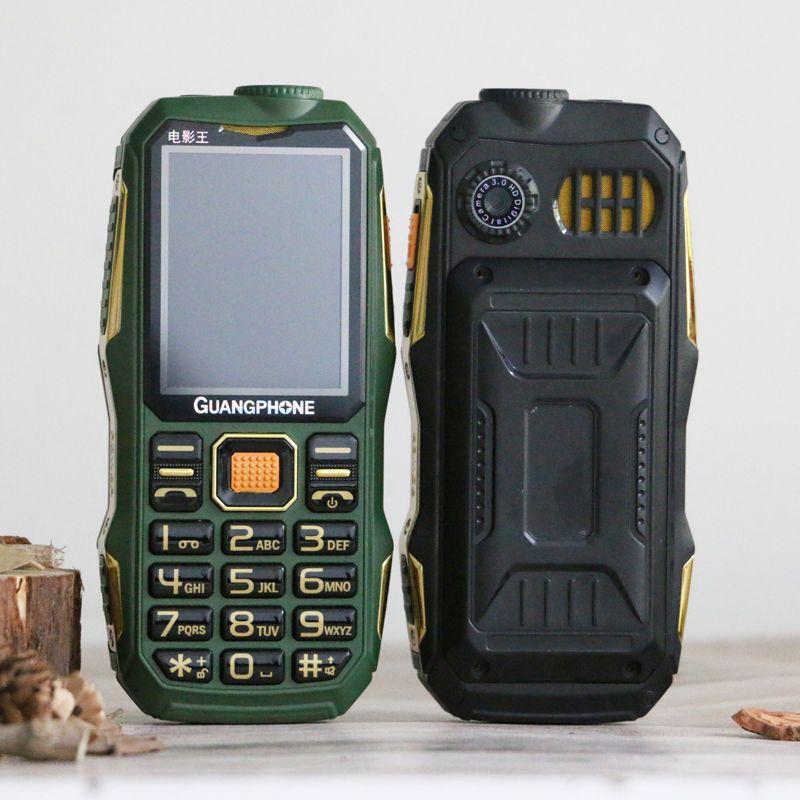 Longue veille pour téléphone portable robuste extérieur SOS cadran liste noire grand clavier torche Whatsapp son fort Powerbank