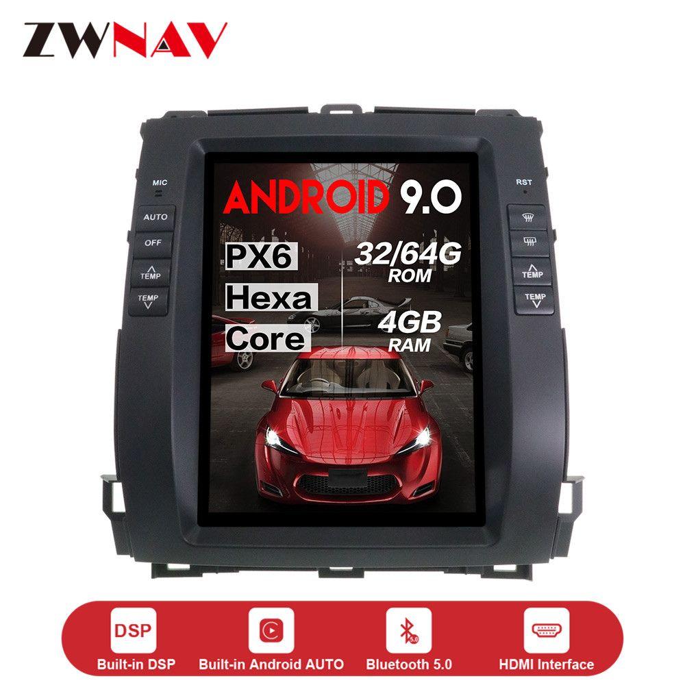 Verticl Tesla stil Android 9.0 Auto dvd Player einheit Für Toyota Land Cruiser Prado 120 2002-2009 Lexus GX470 auto GPS radio stereo
