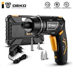 DEKO DCS3.6DU2 Cordless Electric Screwdriver Household Rechargeable battery Screwdriver with Twistable Handle with LED Torch