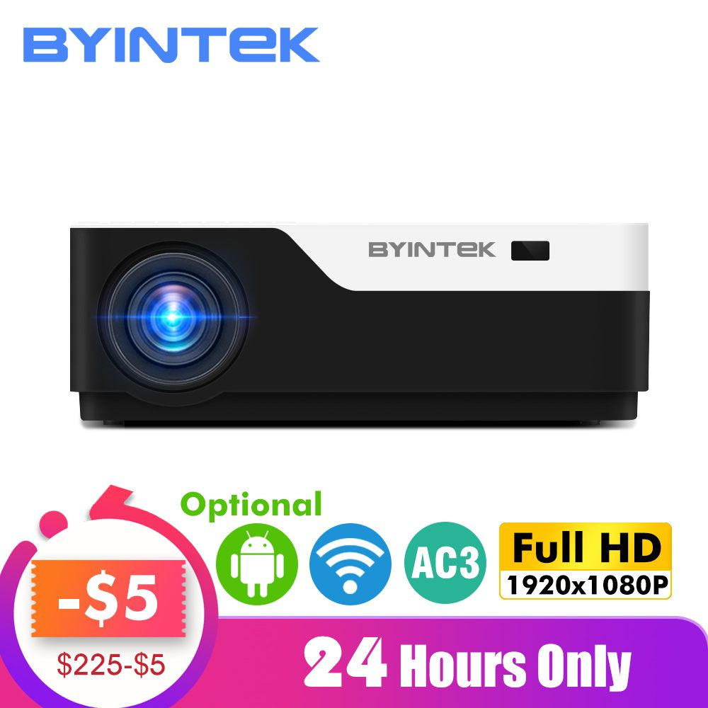 BYINTEK MOND K11 Smart Android Wifi 200 zoll 1920x1080 1080P VOLLE HD LED Video Projektor mit HD USB Für Heimkino Kino