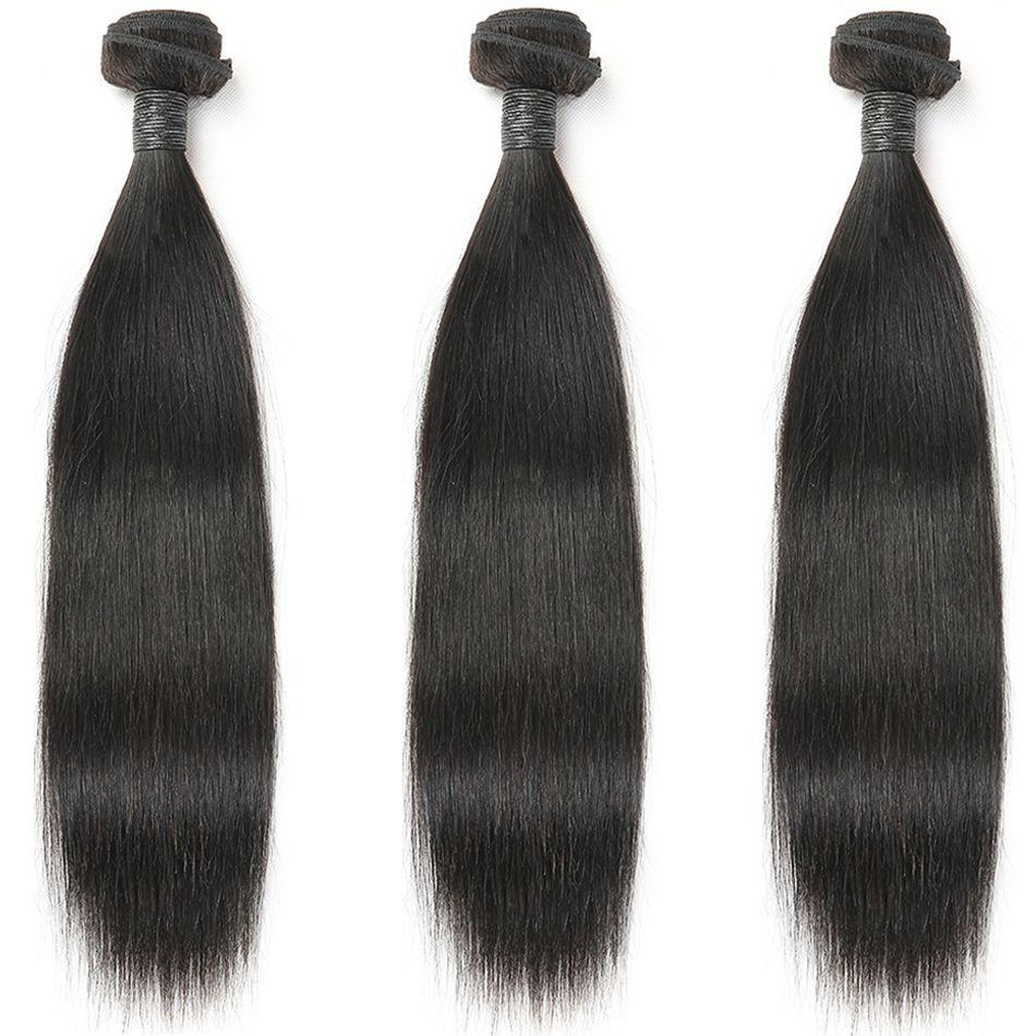 Cheveux raides 100% cheveux humains paquets couleur naturelle 3/4 paquets indien Extensions de cheveux MIHAIR Remy tissages de cheveux