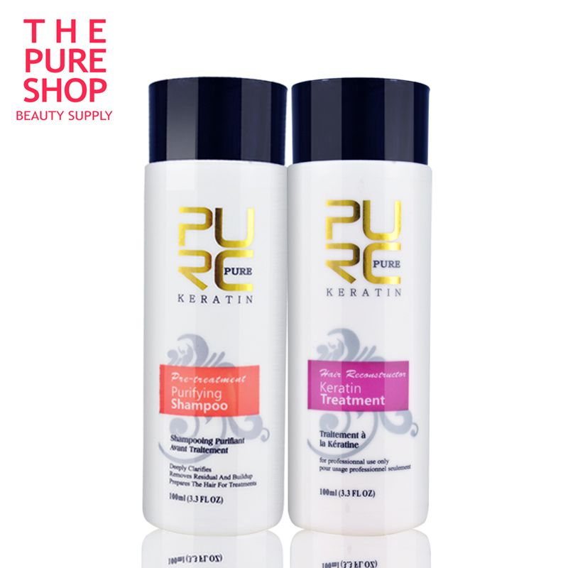 Brazilian Keratin Hair Treatment Hair Straighten Clarifying Shampoo Keratin and Purifying Shampoo for Frizzy Damaged Hair Care