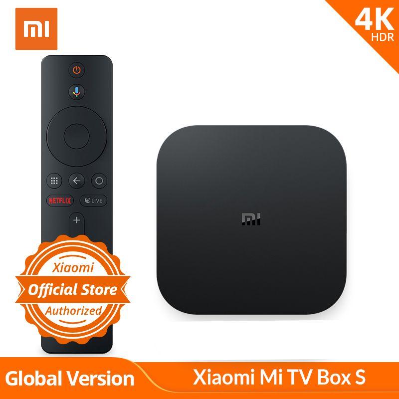 Version mondiale Xiaomi TV Box S 4K HDR Android TV lecteur multimédia et Google Assistant à distance Smart TV mi Box S