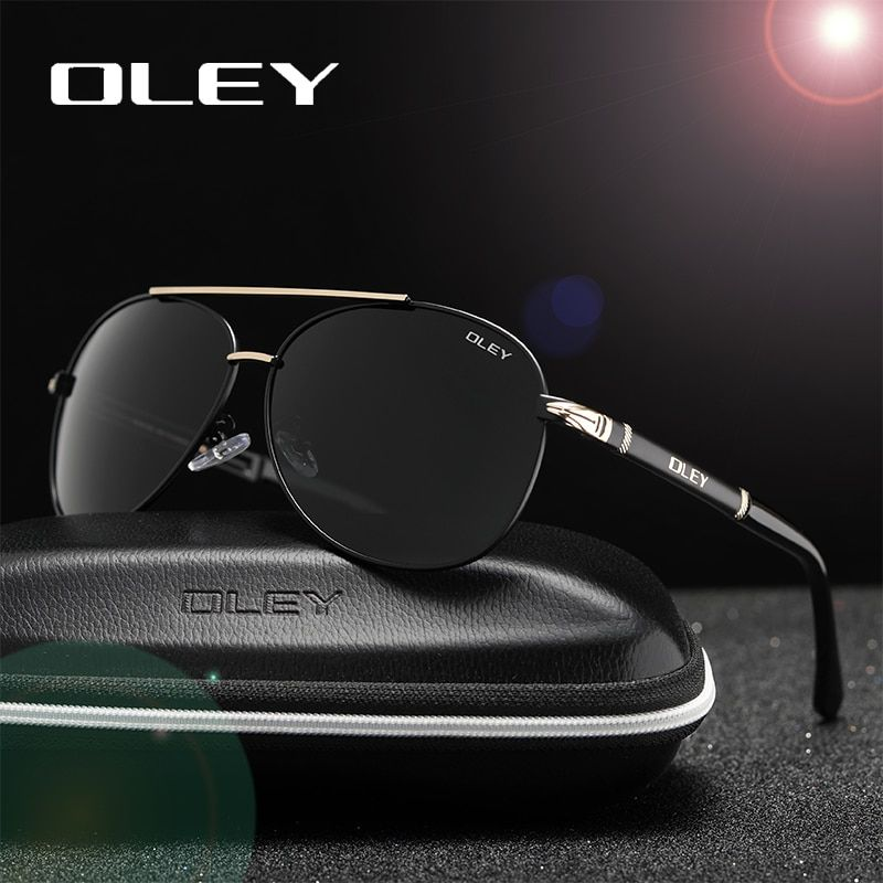OLEY marque lunettes de soleil hommes polarisées mode classique pilote lunettes de soleil pêche conduite lunettes nuances pour hommes/femmes Y7005