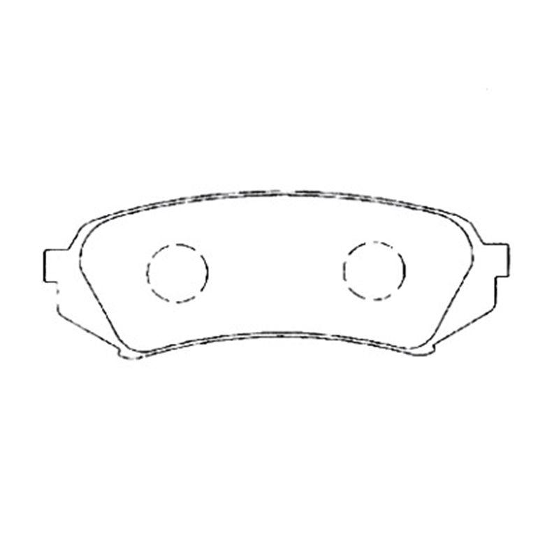 AKEBONO pads bremsscheibe hinten FIT FÜR TOYOTA LAND CRUISER 100, LEXUS LX470 AN-499K