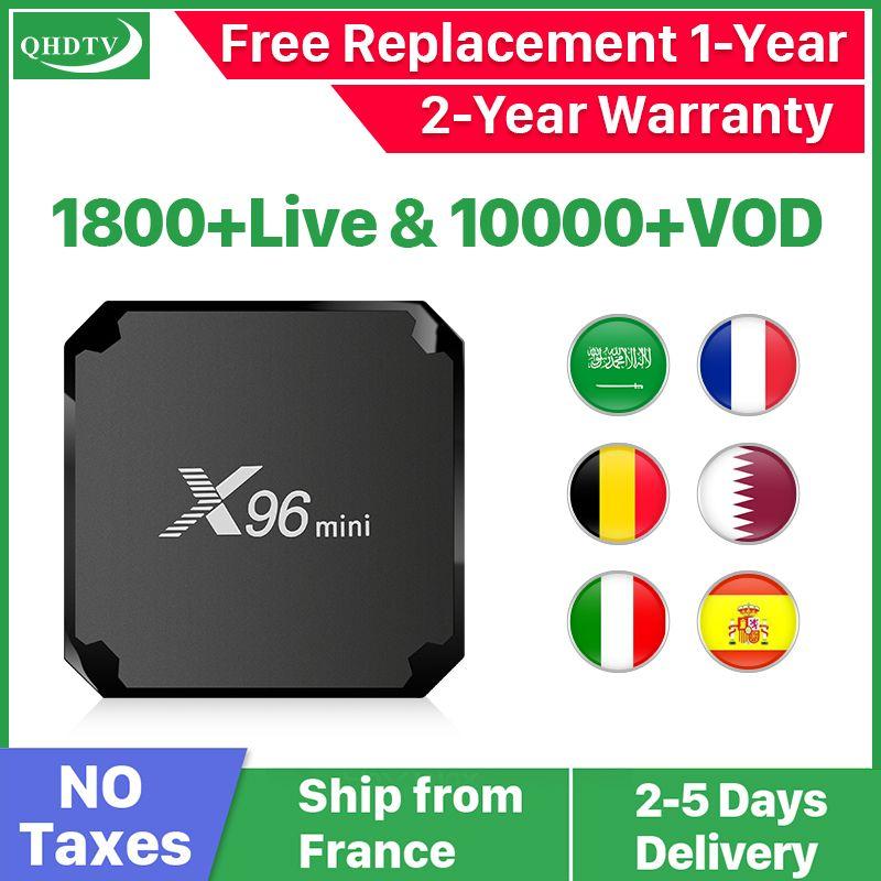 X96 mini Android 7.1 France IP TV Box Quad Core QHDTV Europe décodeur X96mini 1 an IPTV belgique néerlandais français arabe IPTV