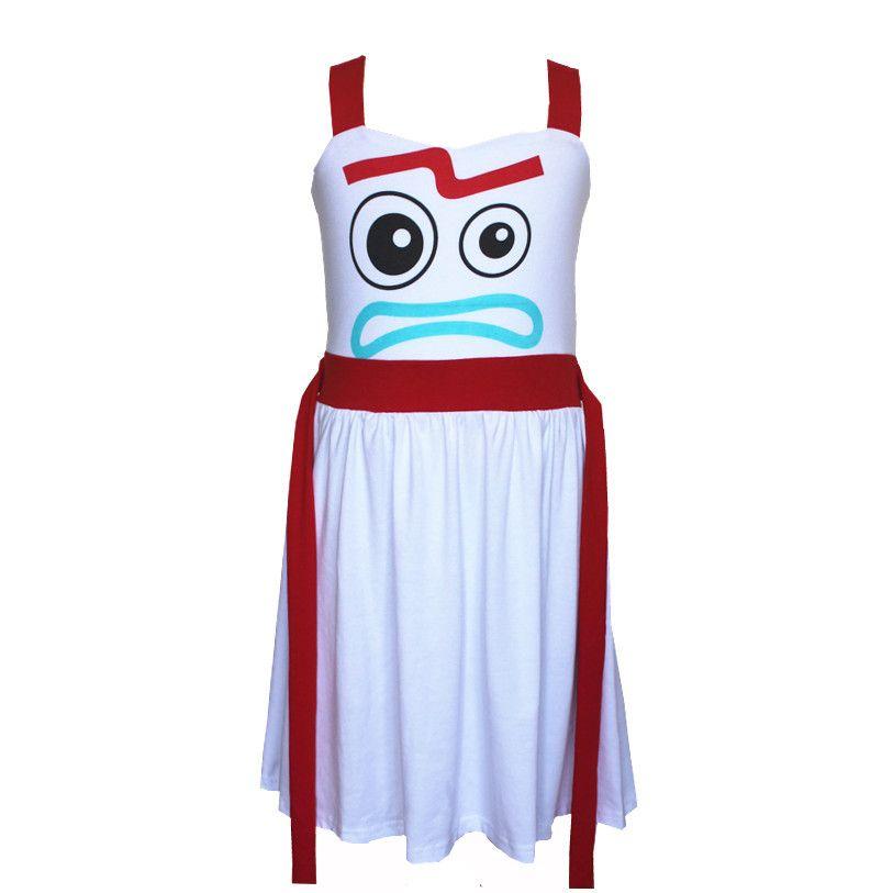 Girls Forky Dress Comfy Soft Toy Story Halloween Cosplay Princess Party Bo Peep Dress Birthday Buzz Jesse Alien Dress