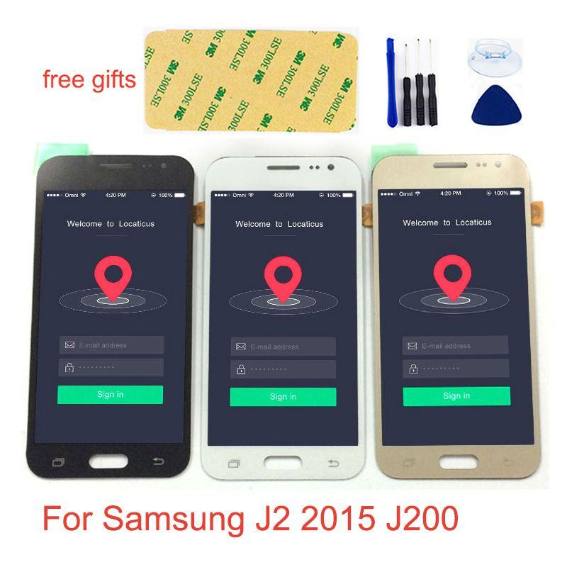 Für Samsung J2 2015 LCD Bildschirm J200 J200F LCD Panel J200Y J200H/DS J200FN LCD Display Touch Digitizer Sensor j200 LCD Montage