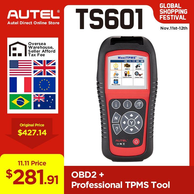 AUTEL TS601 MaxiTPMS Werkzeug OBD2 Scanner Code Reader Sensor Relearn Reset Automotive Aktivieren ECU Reprogramming Diagnose werkzeug
