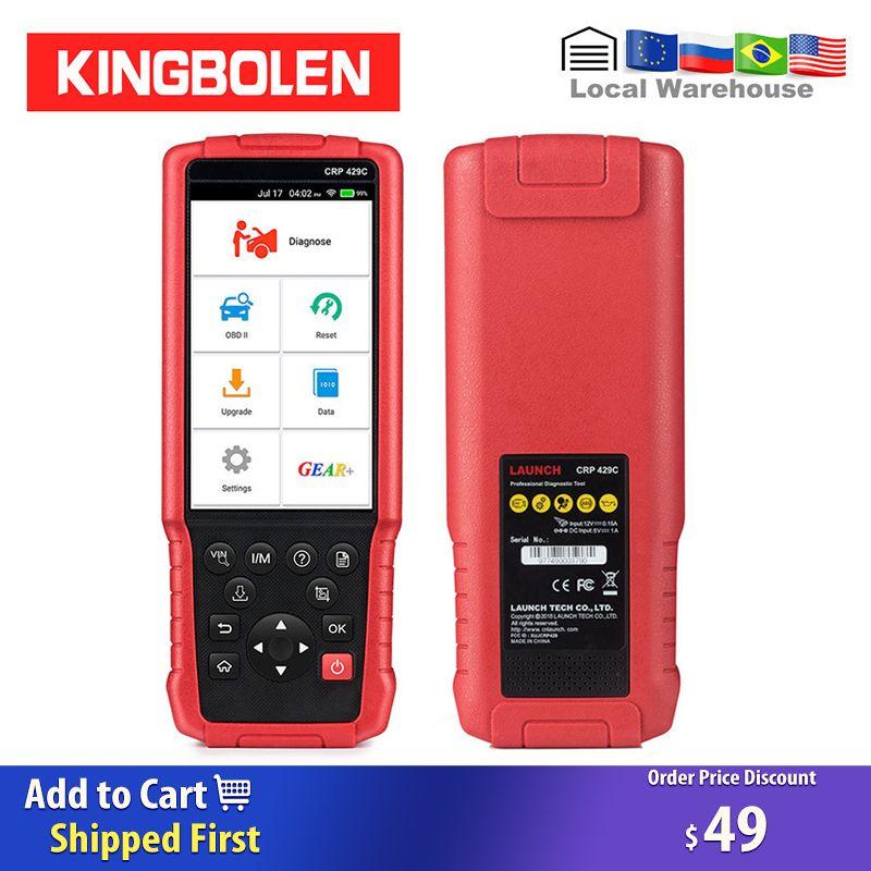 Starten CRP429C (Erweiterte version von crp129) 4 systeme OBDI/OBDII Code Reader X431 Diagnose Werkzeug CRP429 C CRP 429C Auto Scanner