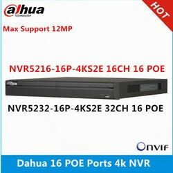 Dahua NVR5216-16P-4KS2E 16CH with 16 poe & NVR5232-16p-4KS2E 32ch with 16 PoE ports max support 12MP Resolution 4K NVR Reader