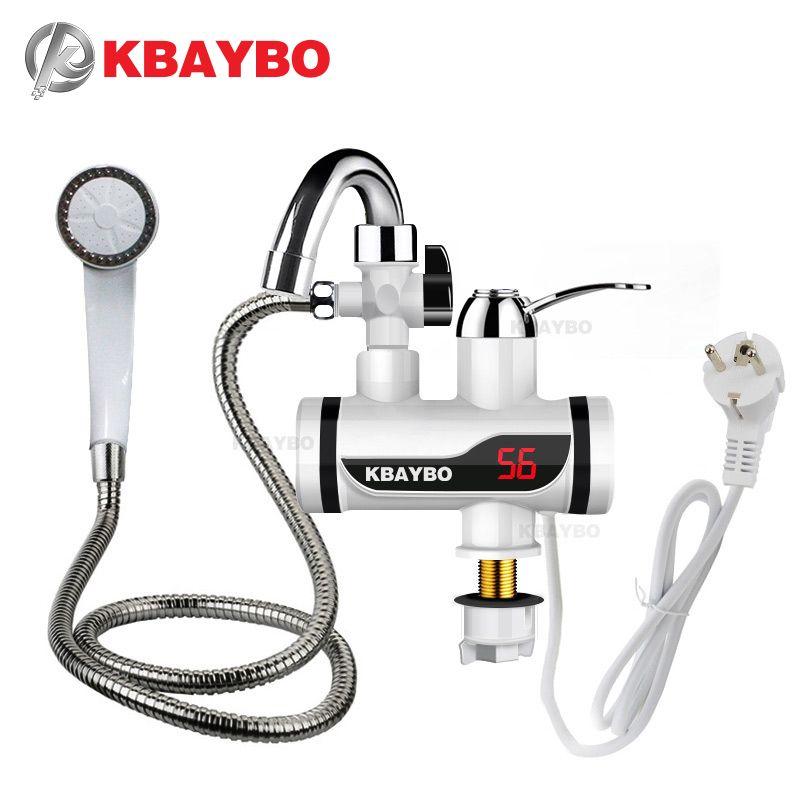 3000W affichage de la température robinet d'eau chaude instantané robinet électrique sans réservoir cuisine robinet chaud instantané chauffe-eau chauffage de l'eau