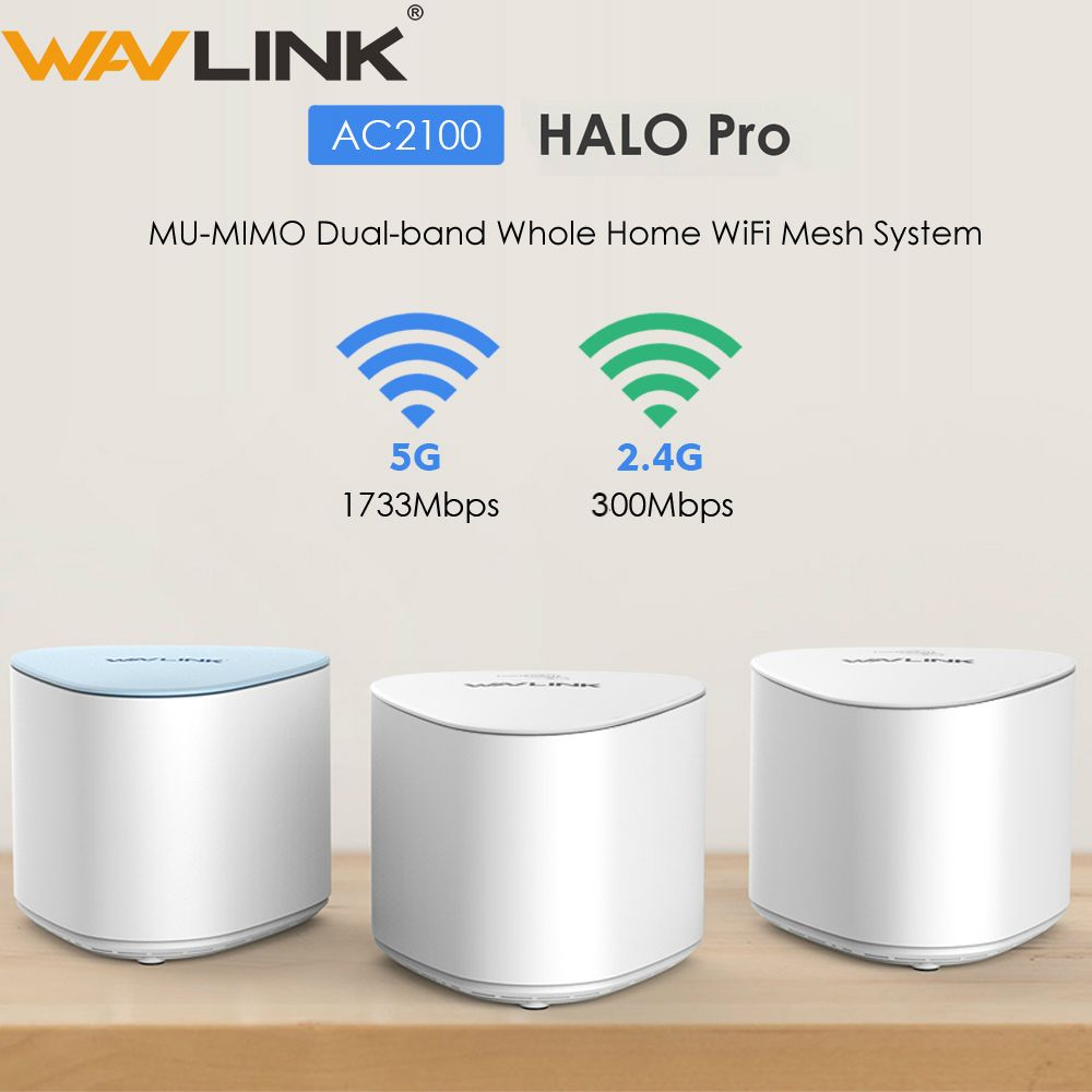 Wavlink AC2100 Drahtlose Wifi Router Gesamte Hause WiFi Mesh System MU-MIMO Gigabit wifi Repeater Dual-band 2,4G & 5Ghz mit Touchlink