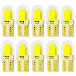 10 шт. T10 W5W силиконовый чехол COB Светодиодная для парковки машины свет 501 WY5W Silica гелевый бампер светодиодный клиновидный для салона Купол Ламп...
