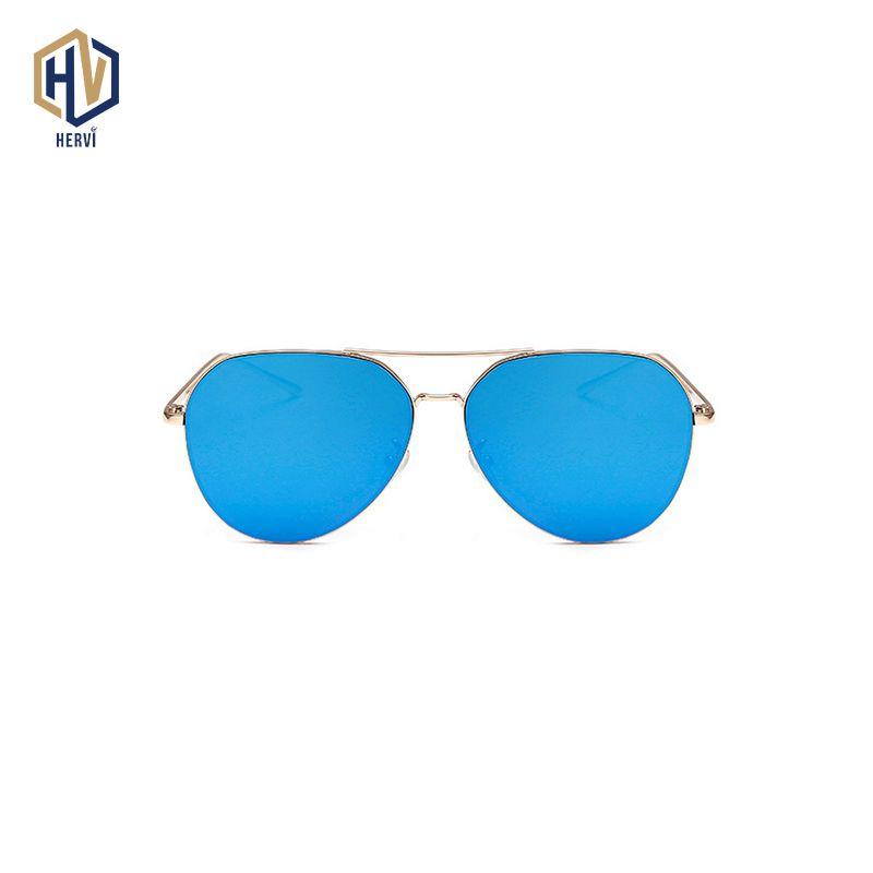 OFIR 2019 marque Designer surdimensionné pilote ovale lunettes de soleil femmes hommes soleil verre Aviation métal cadre miroir conduite femme lunettes
