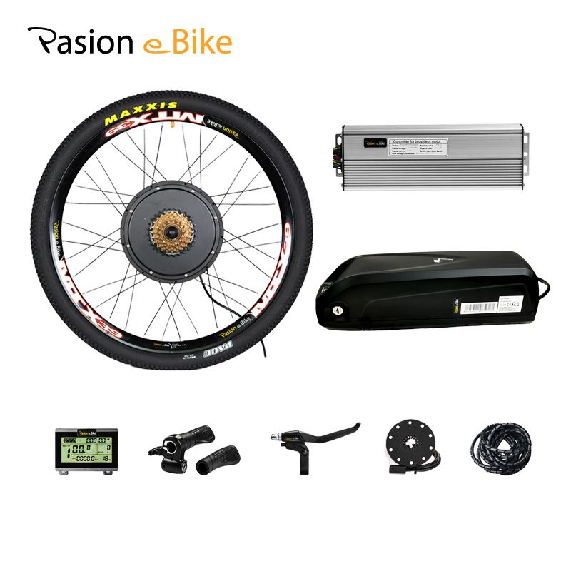 52v12. 8ah e Bike Batterie mit 48v 1500w Electric Bike Conversion Kit 52V Batterie 48v Elektrische Rad motor Kit eBike Motor Rad