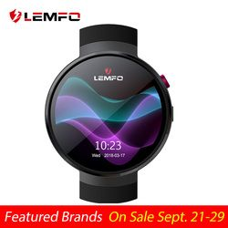Lemfo LEM7 Smart Watch Android 7.1 Smart Watch LTE 4G Smart Watch Ponsel Heart Rate 1GB + 16GB memori dengan Kamera Alat Terjemahan