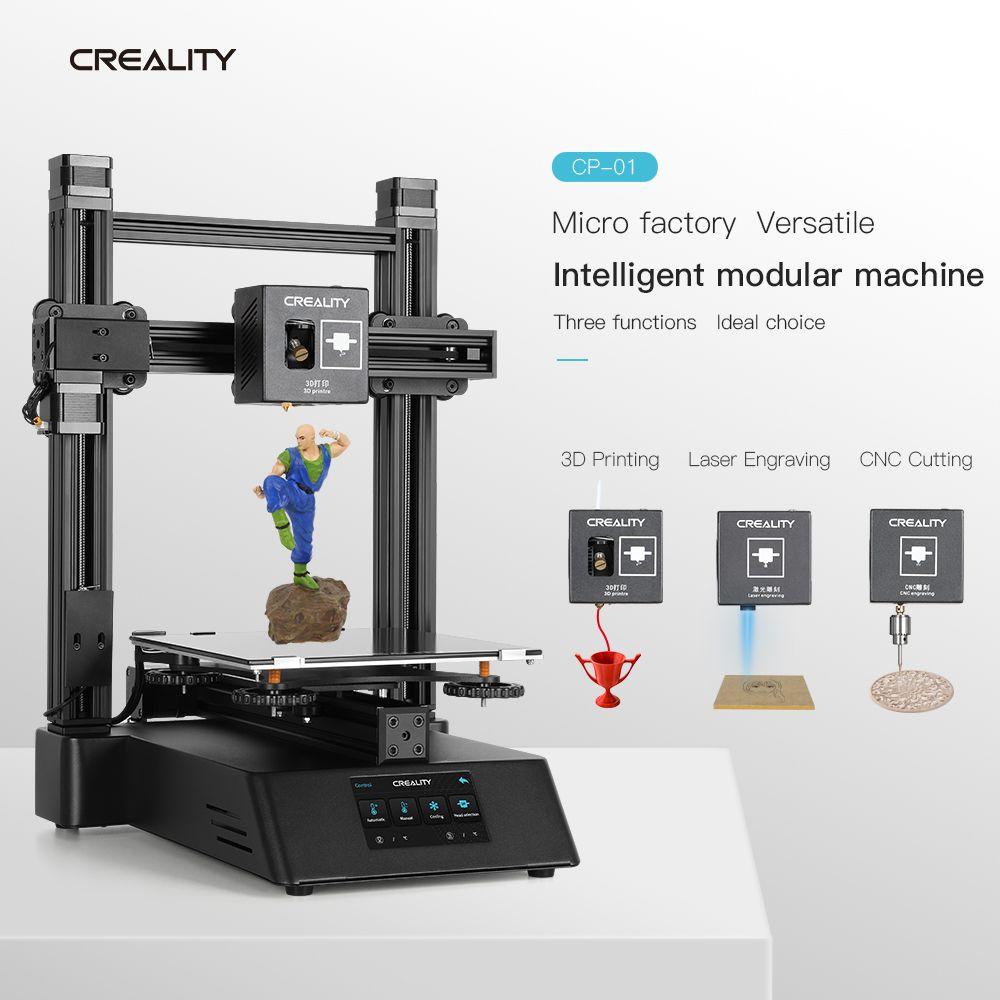 Neue CREALITY 3D Drucker Ender CP-01 FDM Verbesserte Optional Können laser Gravur CNC Schneiden 3D Druck PLA ABS TPU PVA 2019