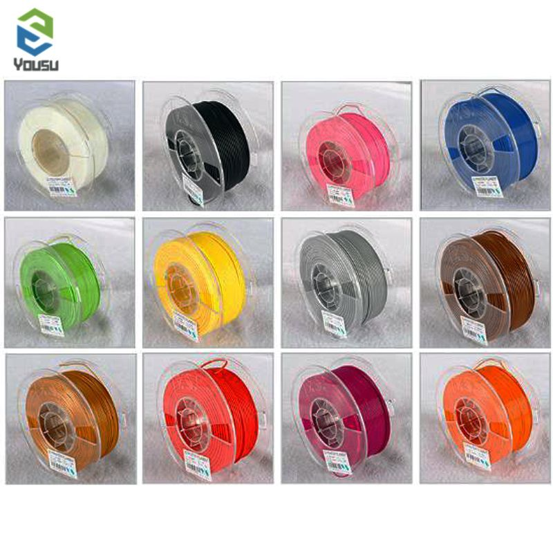 YOUSU filament plastic for 3d printer/ PETG/NYLON/WOOD/CARBON/ 1kg 340m shipping from Moscow