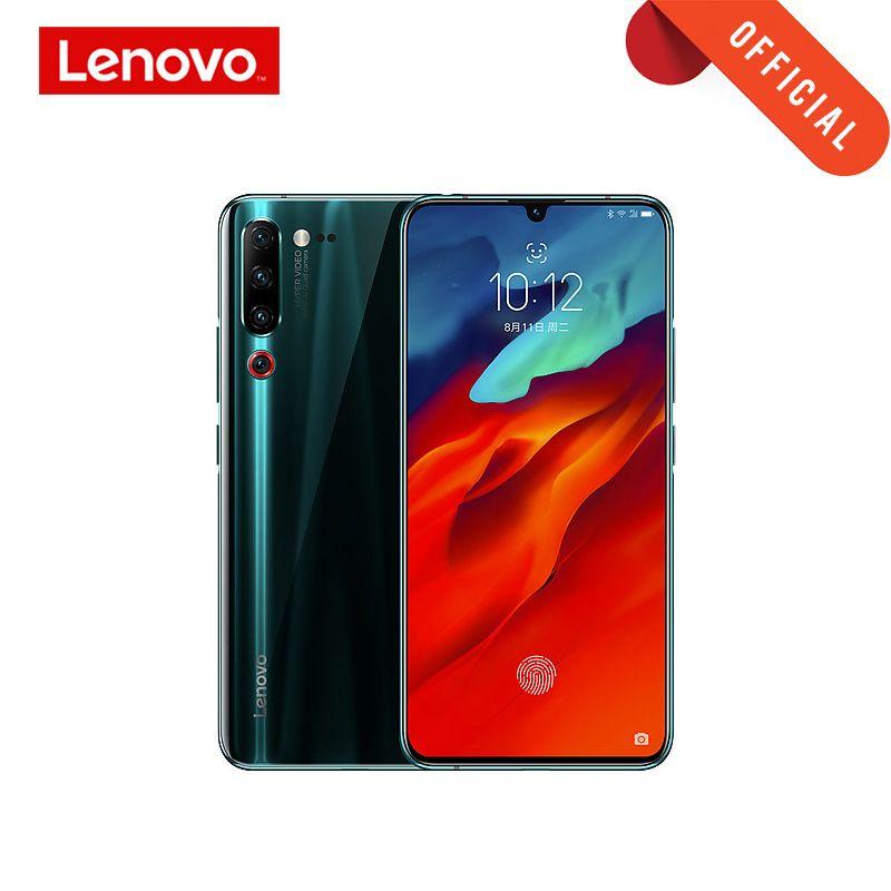 Globale Rom Smartphone Lenovo Z6 Pro Snapdragon 855 Handy 8GB 128GB 2340*1080 6,39 OLED bildschirm 48MP AI 4 Kamera 4000mAh
