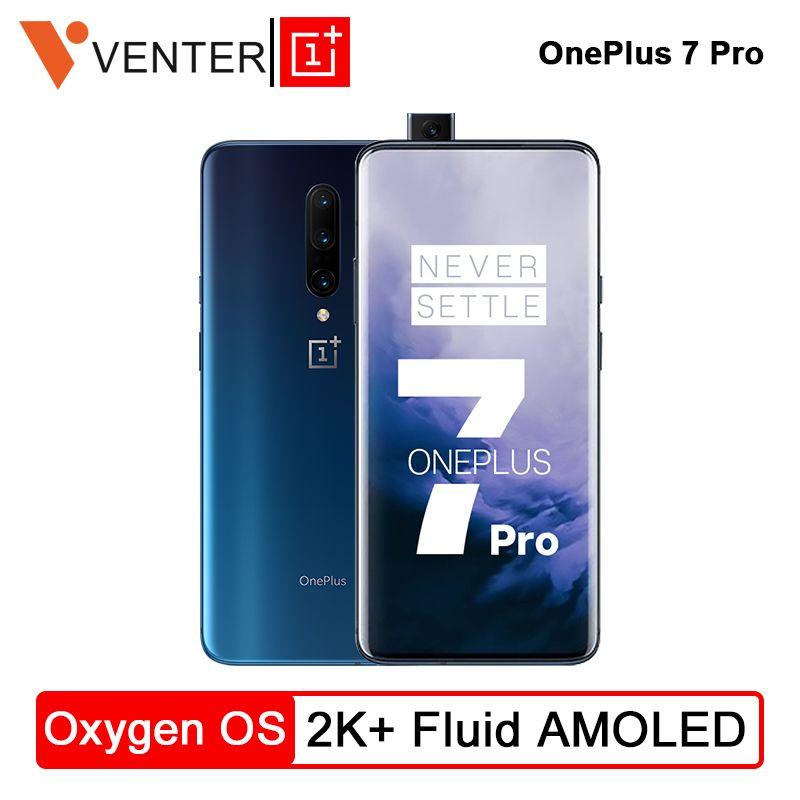 Lager Globale Rom OnePlus 7 Pro Smartphone 48MP Kameras Snapdragon 855 Octa Core 6,67 Zoll 2K + Flüssigkeit AMOLED bildschirm Entsperren UFS 3,0