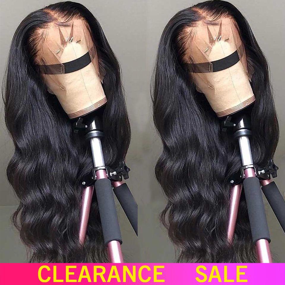 150% 180% dentelle avant perruques de cheveux humains 13X4 non-remy partie libre brésilienne vague de corps dentelle avant perruque avec des cheveux de bébé pour les femmes noires