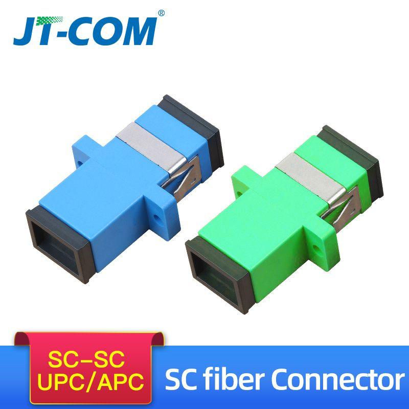 500 stücke Telecom Grade SC/APC Optische Faser Stecker Adapter Flansch SC/UPC SM Single Simplex SC-SC Koppler spezielle Großhandel