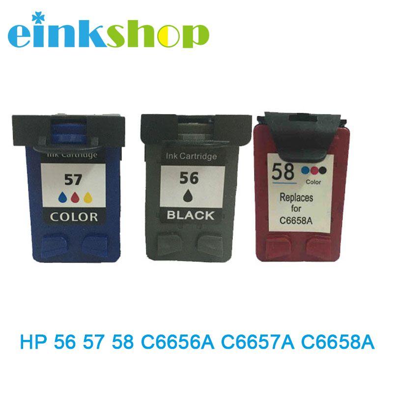 Einkshop cartouche d'encre compatible C6656A C6657A C6658A pour hp 56 57 58 pour hp Officejet J5500 série tout-en-un J5508 J5520