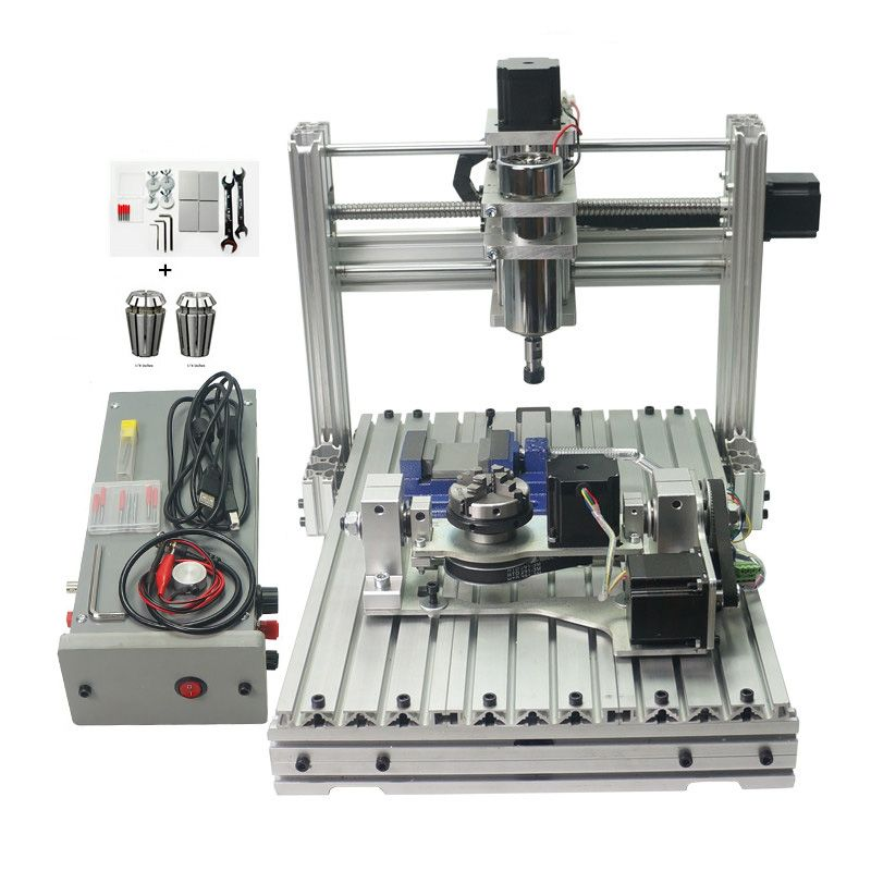 CNC Engraver Fräsen Maschine DIY 3040 PCB Carving Holz Gravur Mach3 USB Port Mit ER11 CNC 4030 Holzbearbeitung Holz Router