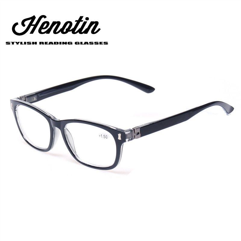 Lunettes de lecture 180 degrés printemps charnière élégant conçu femmes et hommes lunettes pour la lecture + 100 + 150 200 + 250 + 300 + 350 + 400 + + +