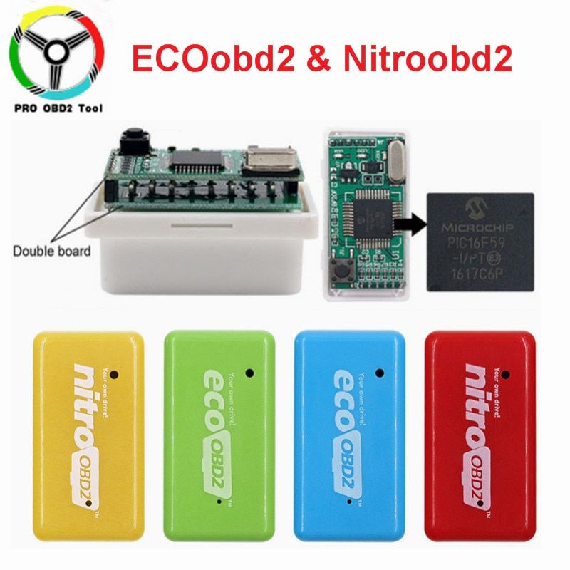 15% économie de carburant EcoOBD2 pour les voitures d'essence de Benzine Eco OBD2 Diesel NitroOBD2 puce Tuning boîte Plug & Driver outil de Diagnostic