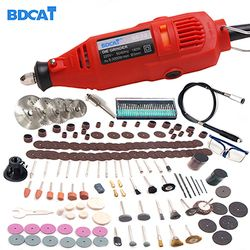 BDCAT 220V Power Tools Electric Mini Drill with 0.3-3.2mm Univrersal Chuck & Shiled Rotary Tools Kit Set For Dremel 3000 4000