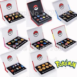 Poke Gym Badges Kanto Johto Hoenn Sinnoh Unova Kalos League Region Orange Islands Pins Brooches New in Box Set Gift