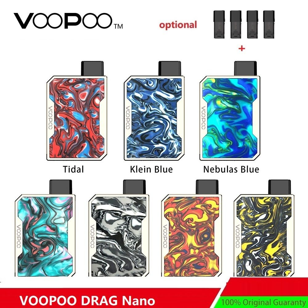 Updated Version ! VOOPOO DRAG Nano Pod Kit W/ 750mAh Battery & 1.0ml DRAG Nano Pod Cartridge E-cig Vape Kit VS Drag Mini/ Drag 2